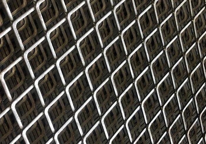 菱形钢板网片
